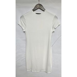 Vibe Sportswear White Mini Bodycon T Shirt Dress
